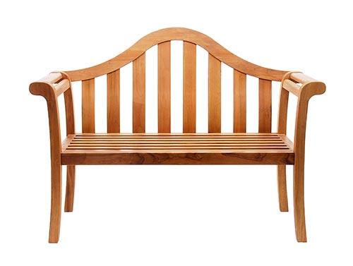 Patio Furniture Bench Eucalyptus Wood Camelback Natural