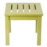 Patio Furniture Table End Eucalyptus Grandis Square Green