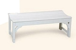Patio Furniture Bench Polyresin Classic Contour Backless