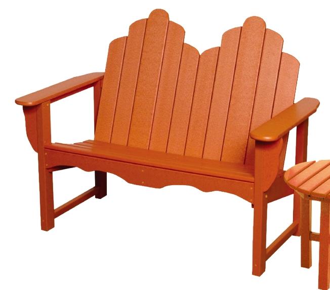 Patio Furniture Bench Polyresin Adirondack
