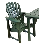 Patio Furniture Chair Dining Polyresin Adirondack