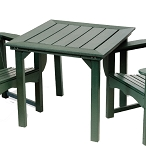Patio Furniture Table Dining Polyresin Square 33