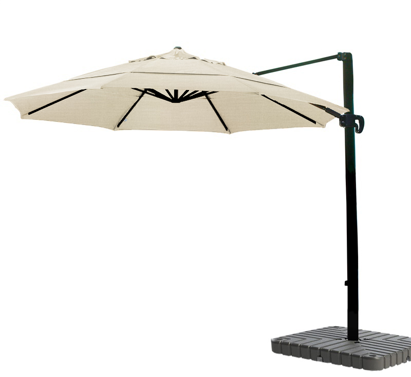 Cantilever Umbrella Aluminum 11 Foot Sunbrella Canvas