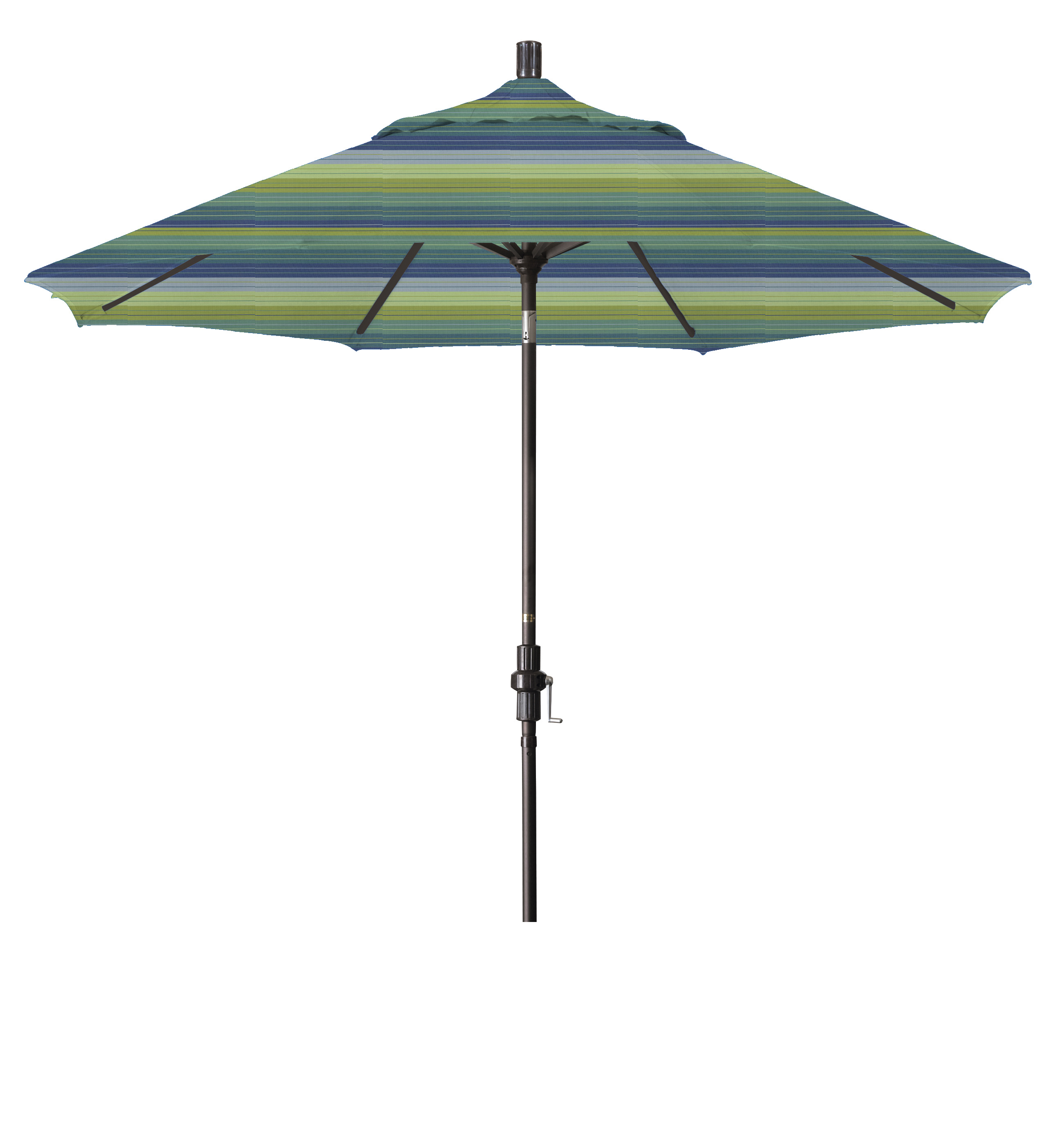 Market umbrella aluminum collar tilt sunbrella seville for Outdoor patio umbrellas