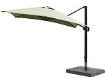 Cantilever Umbrella Aluminum 10-Foot Square Sunbrella Canvas Forest Green 5446
