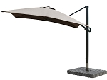 Cantilever Umbrella Aluminum 10-Foot Square Sunbrella Canvas Teak 5488