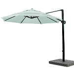 Cantilever Umbrella Aluminum 11-Foot Sunbrella Canvas Spa 5413
