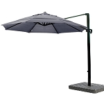 Cantilever Umbrella Aluminum 11-Foot Sunbrella Canvas Navy 5439