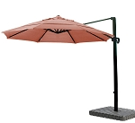 Cantilever Umbrella Aluminum 11-Foot Sunbrella Canvas Terracotta 5440