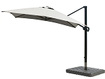 Cantilever Umbrella Aluminum 10-Foot Square Sunbrella Spectrum Dove 48032