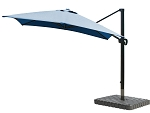 Cantilever Umbrella Aluminum 10-Foot Square Sunbrella Canvas Pacific Blue 5401