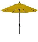 Market Umbrella Aluminum Collar Tilt Sunbrella Canvas Sunflower 5457