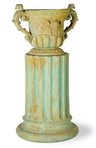 Urn Fiberglass Resin Queen Anne