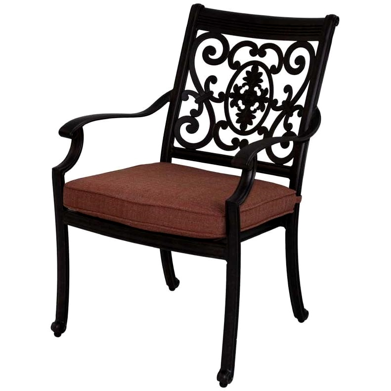 Patio Furniture Chair Dining Cast Aluminum Set 2 St Cruz