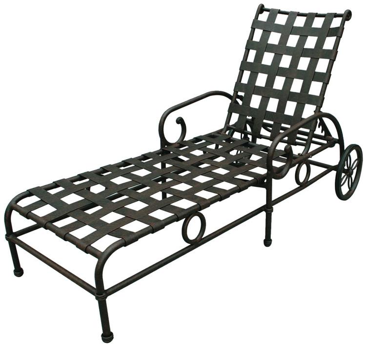 Patio furniture chaise lounge cast aluminum malibu - Chaise longue aluminium ...