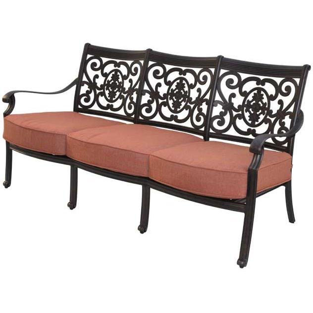 Patio furniture deep seating sofa cast aluminum st cruz for Deep seating patio furniture