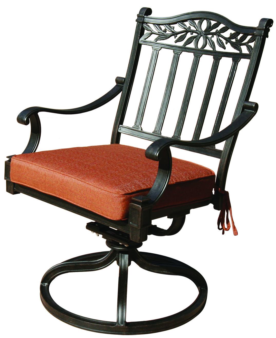 Patio Furniture Rocker Swivel Cast Aluminum Set 2 Charleston