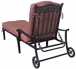 Patio Furniture Chaise Lounge Cast Aluminum Charleston
