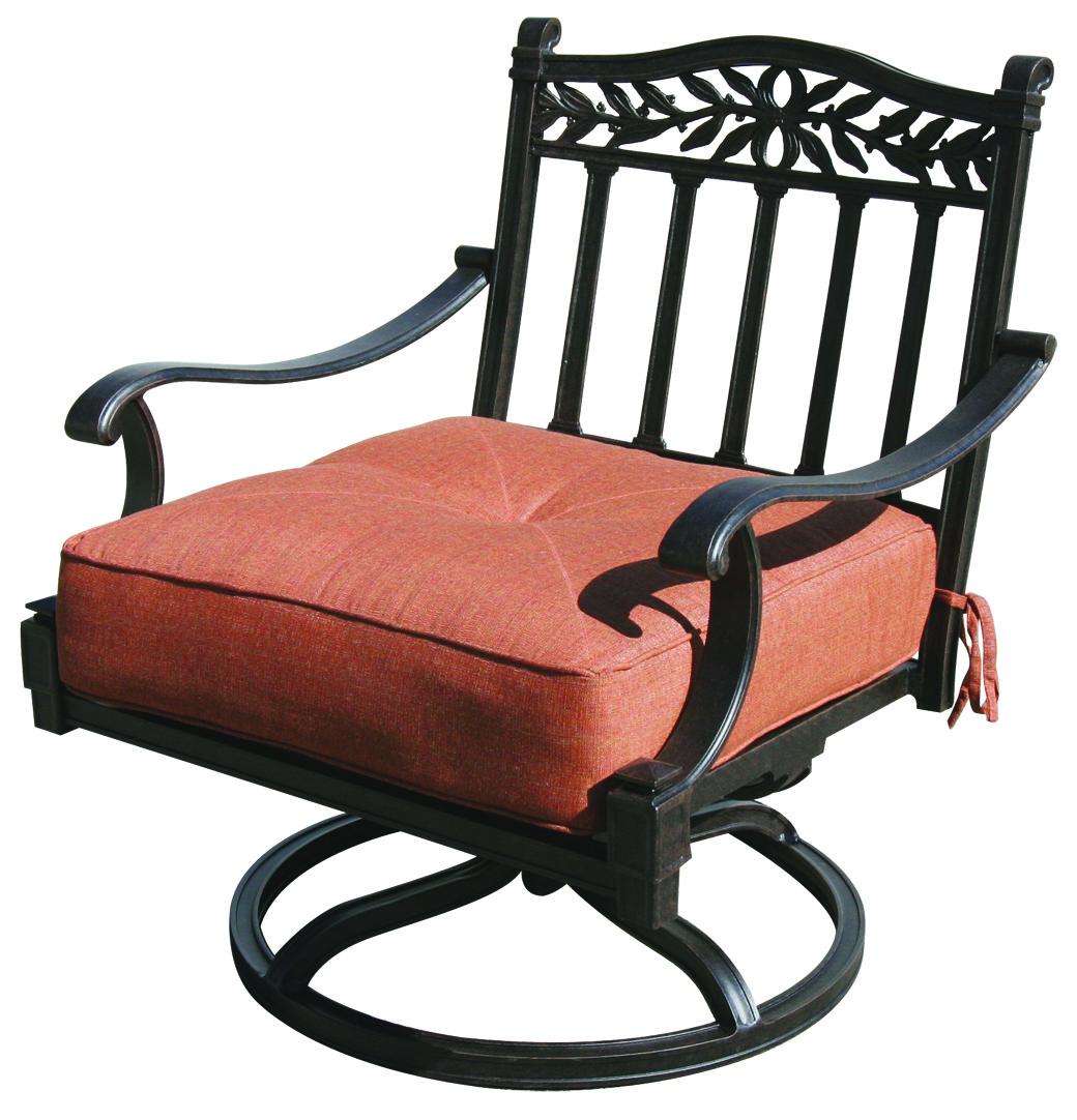 Patio Furniture Cast Aluminum Deep Seating Rocker Swivel Club Chair Charleston