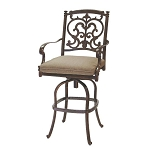 Patio Furniture Bar Stool Swivel Cast Aluminum Santa Barbara