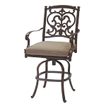 Patio Furniture Pub Stool Cast Aluminum Swivel Counter Height Santa Barbara