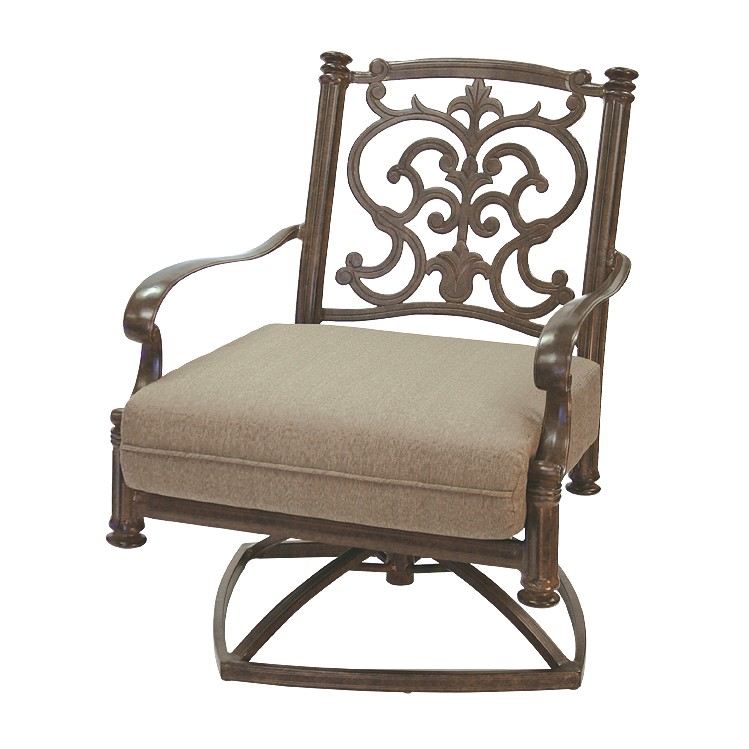 Patio Furniture Deep Seating Rocker Club Cast Aluminum Swivel Chair ...