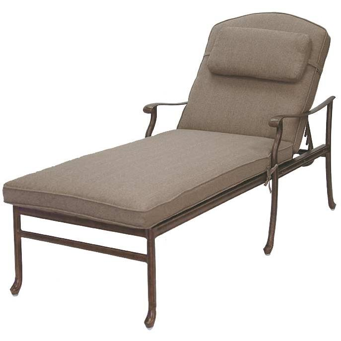 Patio furniture chaise lounge cast aluminum sedona for Aluminum outdoor chaise lounge