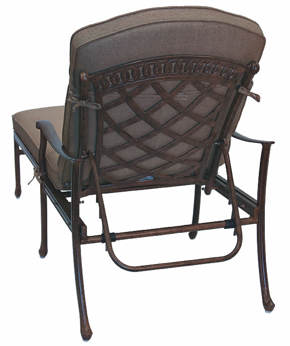 Patio furniture chaise lounge cast aluminum sedona for Cast aluminum chaise