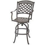 Patio Furniture Bar Stool Swivel Cast Aluminum Sedona