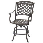 Patio Furniture Pub Stool Cast Aluminum Swivel Counter Height Sedona