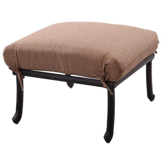 Patio furniture deep seating ottoman cast aluminum sedona for Deep seating patio furniture