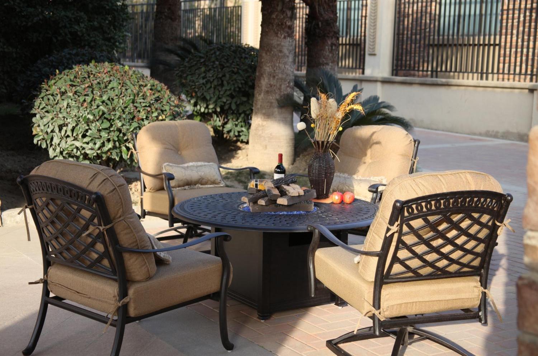Patio Furniture Chat Group Cast Aluminum 52 Quot Round Propane