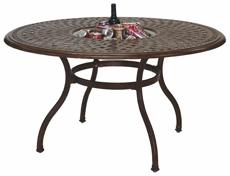 "Round Dining Table 52 Inch: Patio Furniture Dining Set Cast Aluminum 52"" Round Table W"
