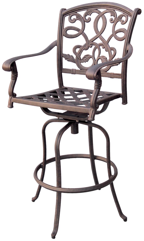 Patio Furniture Bar Stool Swivel Cast Aluminum Santa Monica : 20527 from www.garden2home.com size 800 x 1337 jpeg 417kB