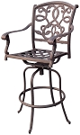 Patio Furniture Bar Stool Swivel Cast Aluminum Santa Monica