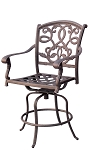 Patio Furniture Cast Aluminum Counter Stool Swivel Santa Monica