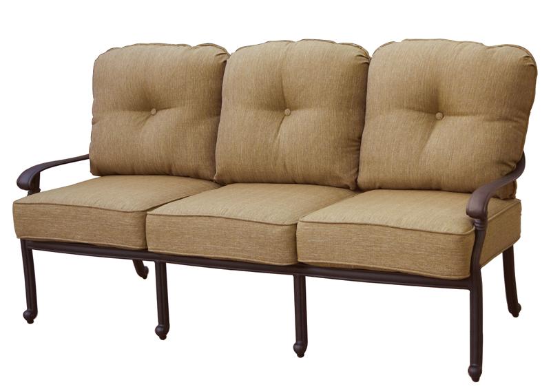 Patio furniture deep seating sofa cast aluminum santa monica for Deep seating patio furniture