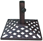 Umbrella Base Cast Iron Basket Weave