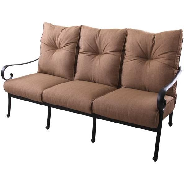 Patio furniture deep seating sofa cast aluminum santa anita for Deep seating outdoor furniture