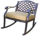 Patio Furniture Deep Seating Club Rocker Cast Aluminum Classic Nassau