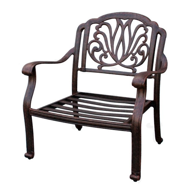 patio furniture deep seating club chair cast aluminum lisse