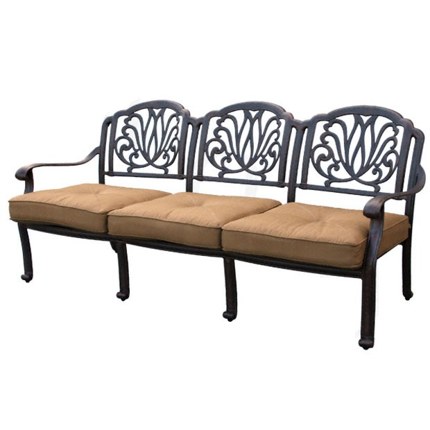 Patio Furniture Deep Seating Sofa Cast Aluminum Lisse