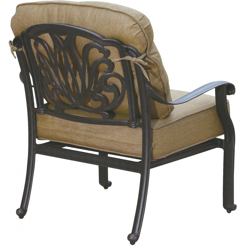 Patio furniture deep seating set cast aluminum 8pc lisse for Deep seating patio furniture