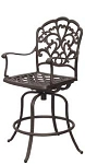 Patio Furniture Pub Stool Cast Aluminum Swivel Counter Height Catalina