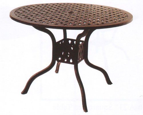tables dining patio furniture table dining cast aluminum 42