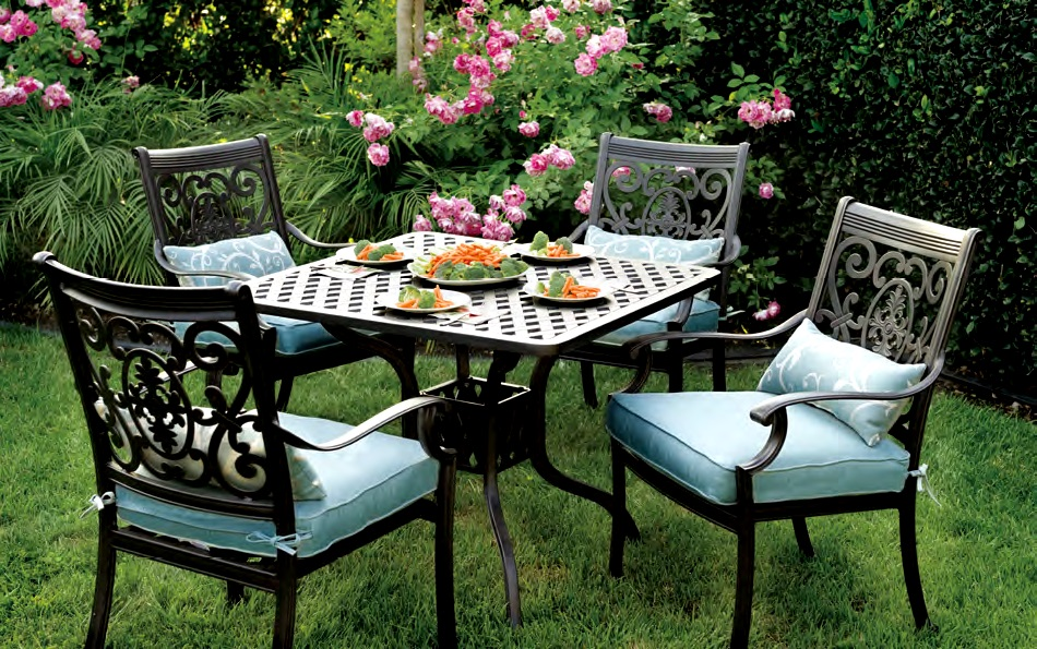 furniture dining sets patio furniture dining set cast aluminum 36