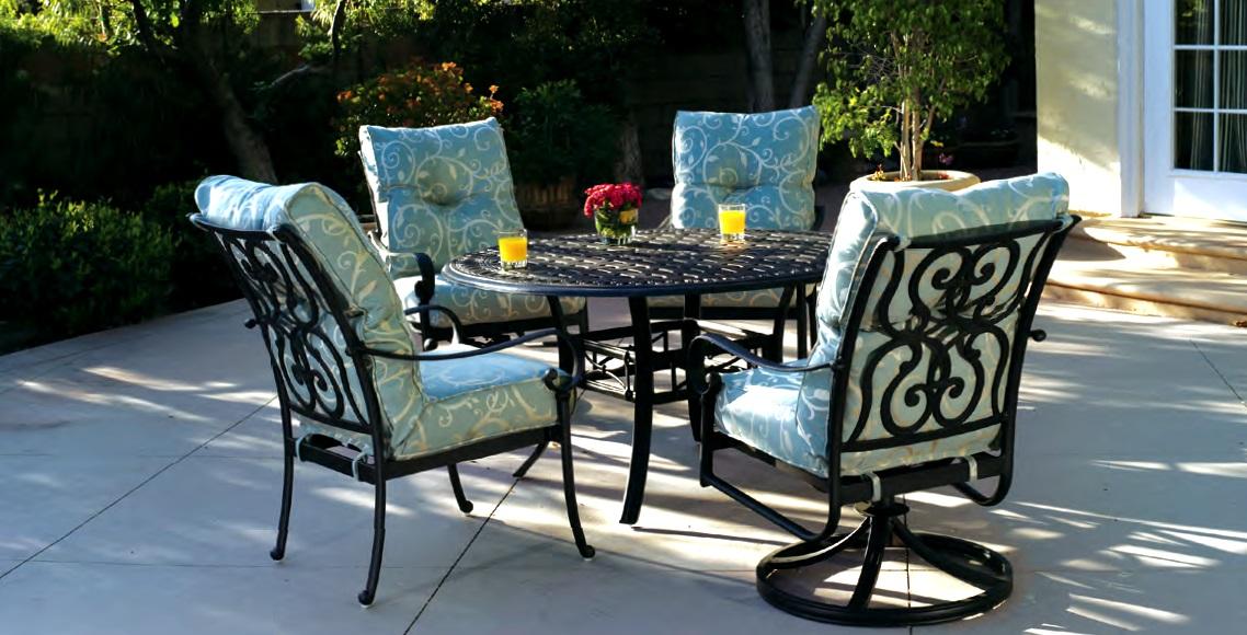 patio furniture dining set cast aluminum 54