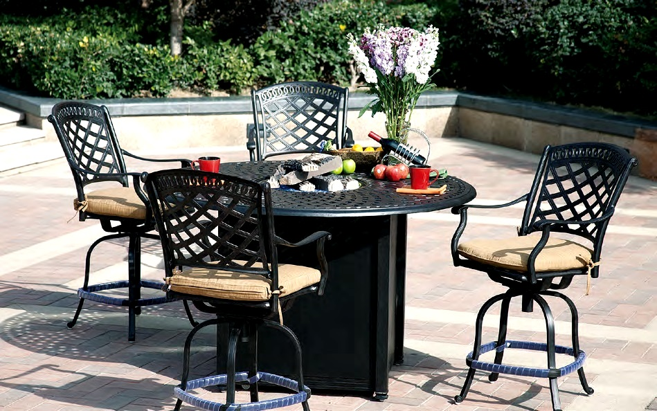 Patio Furniture Dining Set Cast Aluminum 60quot Round Counter  : cast aluminum patio furniture outdoor pub dining 2010307ch 201060ghd from www.garden2home.com size 949 x 594 jpeg 263kB