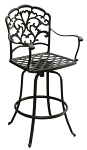 Patio Furniture Barstool Swivel Cast Aluminum Catalina