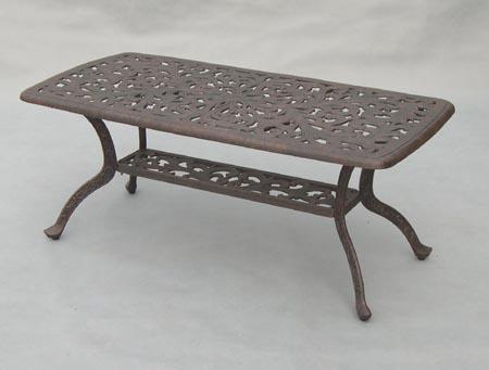 Patio Furniture Table Coffee Cast Aluminum Series 80